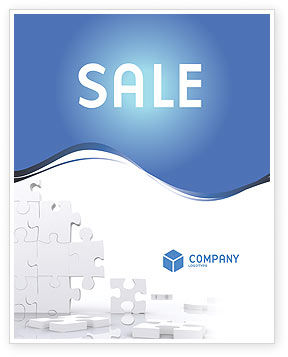 Business Concepts: Puzzle Wall Sale Poster Template #03387