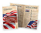 Holiday/Special Occasion: American Stars and Stripes Flag Brochure Template #03389