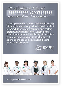 Medical Interns Ad Template, 03390, Medical — PoweredTemplate.com