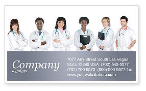 Medical: Medical Interns Business Card Template #03390