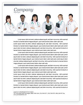 Medical: Medical Interns Letterhead Template #03390