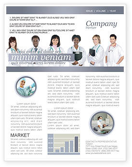 Medical: Medical Interns Newsletter Template #03390