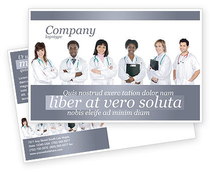 Medical Interns Postcard Template, 03390, Medical — PoweredTemplate.com
