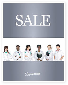 Medical Interns Sale Poster Template, 03390, Medical — PoweredTemplate.com