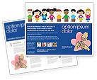 Education & Training: Modèle de Brochure de enfance #03391