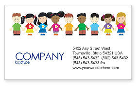 Childhood Business Card Template, 03391, Education & Training — PoweredTemplate.com