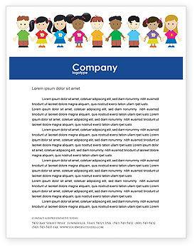 Childhood Letterhead Template, 03391, Education & Training — PoweredTemplate.com