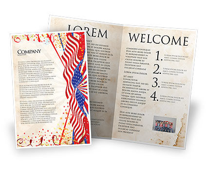 Holiday/Special Occasion: 4th of July Celebration Free Brochure Template #03392