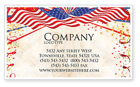 Holiday/Special Occasion: 4th of July Celebration Free Business Card Template #03392