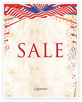 Holiday/Special Occasion: 4th of July Celebration Free Sale Poster Template #03392