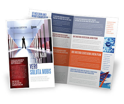 Perspective Brochure Template, 03395, Business Concepts — PoweredTemplate.com