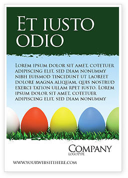 Holiday/Special Occasion: Easter Eggs Ad Template #03396