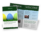 Holiday/Special Occasion: Easter Eggs Brochure Template #03396