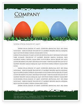 Easter Eggs Letterhead Template, 03396, Holiday/Special Occasion — PoweredTemplate.com