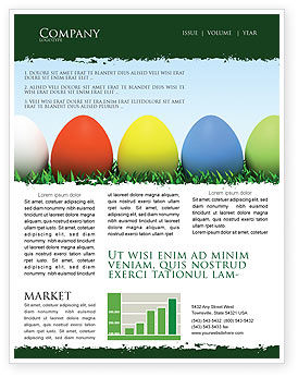 Easter Eggs Newsletter Template, 03396, Holiday/Special Occasion — PoweredTemplate.com