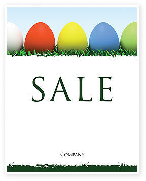 Holiday/Special Occasion: Easter Eggs Sale Poster Template #03396