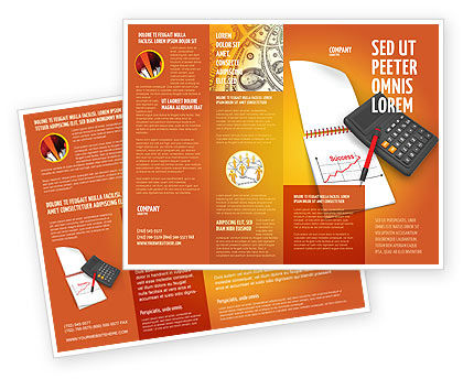 Financial/Accounting: Financial Analytics Brochure Template #03400