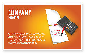 Financial Analytics Business Card Template, 03400, Financial/Accounting — PoweredTemplate.com