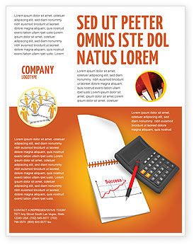 Financial/Accounting: Templat Flyer Analisis Keuangan #03400