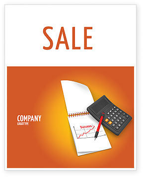 Financial/Accounting: Financial Analytics Sale Poster Template #03400