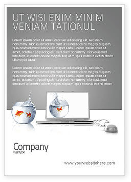 Business Concepts: Multimedia Laptop Ad Template #03402