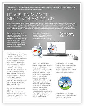 Multimedia Laptop Flyer Template, 03402, Business Concepts — PoweredTemplate.com