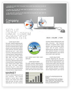 Business Concepts: Multimedia Laptop Newsletter Template #03402