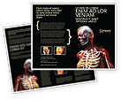 Medical: Female Anatomy Breast And Facial Bones Brochure Template #03404