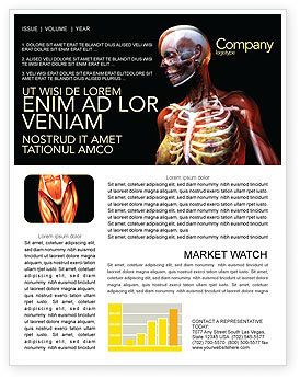 Female Anatomy Breast And Facial Bones Newsletter Template, 03404, Medical — PoweredTemplate.com