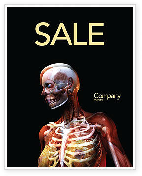 Female Anatomy Breast And Facial Bones Sale Poster Template