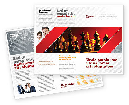 Strategy Game Brochure Template, 03405, Sports — PoweredTemplate.com