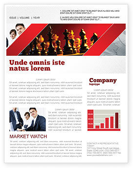 Sports: Strategy Game Newsletter Template #03405
