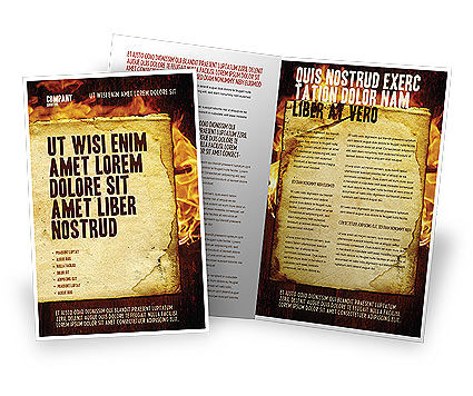 Fire Board Brochure Template