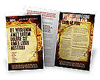 Abstract/Textures: Fire Board Brochure Template #03412