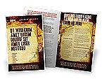 Abstract/Textures: Modèle de Brochure de panneau d'incendie #03412