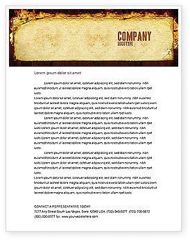 Fire Board Letterhead Template, 03412, Abstract/Textures — PoweredTemplate.com
