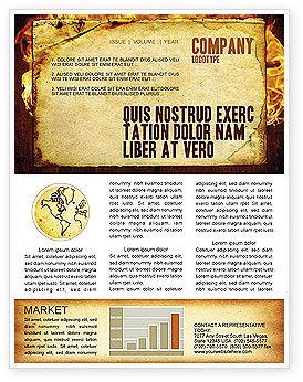 Fire Board Newsletter Template, 03412, Abstract/Textures — PoweredTemplate.com