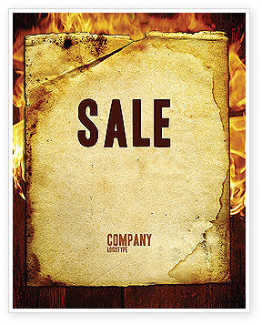 Abstract/Textures: Fire Board Sale Poster Template #03412