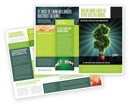 Green Dollar Breeding Brochure Template