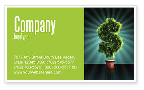 Financial/Accounting: Green Dollar Breeding Business Card Template #03414
