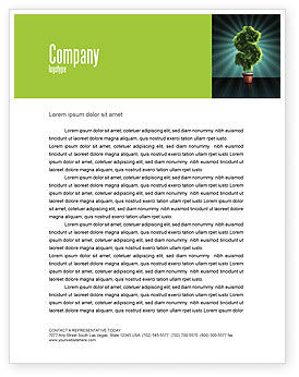 Green Dollar Breeding Letterhead Template, 03414, Financial/Accounting — PoweredTemplate.com