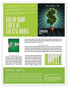 Green Dollar Breeding Newsletter Template, 03414, Financial/Accounting — PoweredTemplate.com