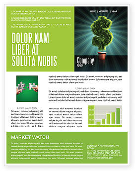 Financial/Accounting: Green Dollar Breeding Newsletter Template #03414