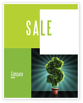 Green Dollar Breeding Sale Poster Template, 03414, Financial/Accounting — PoweredTemplate.com