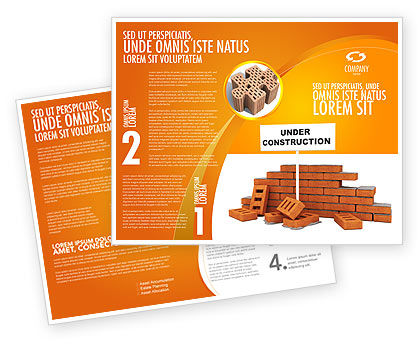 construction brochure templates - under construction brochure template design and layout