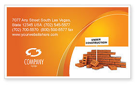 Construction: Under Construction Business Card Template #03416
