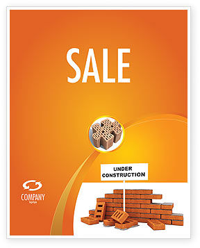 Under Construction Sale Poster Template