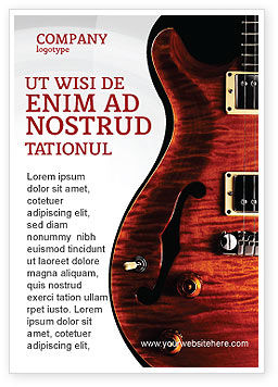 Art & Entertainment: Semi Acoustic Guitar Ad Template #03419
