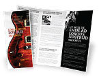 Art & Entertainment: Modèle de Brochure de guitare semi acoustique #03419