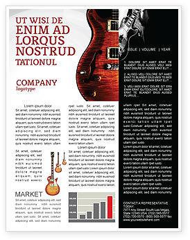 Semi Acoustic Guitar Newsletter Template